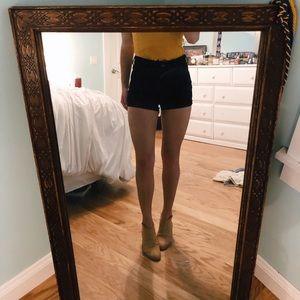 Hollister, very dark black, high waisted shorts